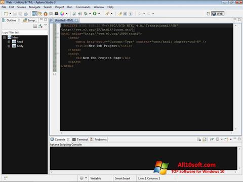Screenshot Aptana Studio für Windows 10
