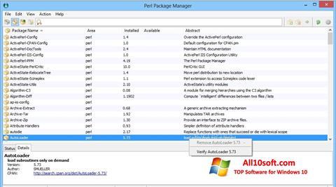 Screenshot ActivePerl für Windows 10