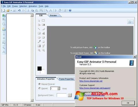 Screenshot Easy GIF Animator für Windows 10