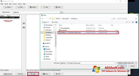 Screenshot ArtMoney für Windows 10