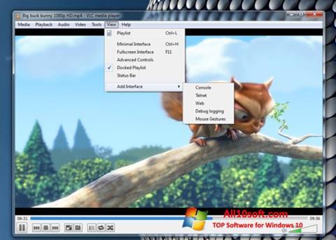 Screenshot VLC Media Player für Windows 10