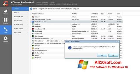 Screenshot CCleaner Professional Plus für Windows 10