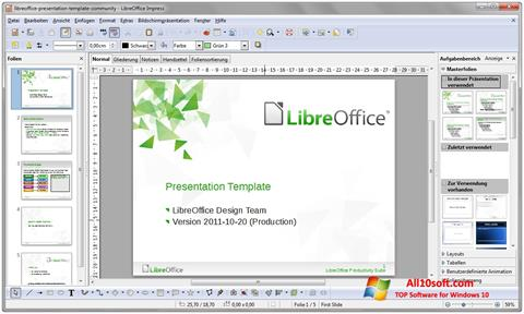 Screenshot LibreOffice für Windows 10