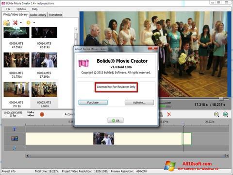 Screenshot Bolide Movie Creator für Windows 10