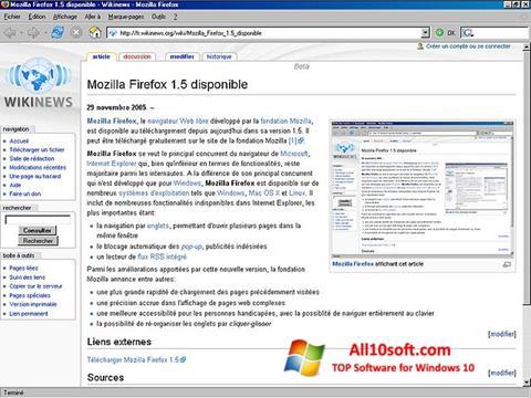Screenshot Mozilla Firefox für Windows 10
