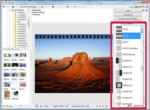 Screenshot PhotoScape für Windows 10