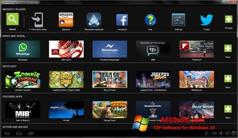 Screenshot BlueStacks für Windows 10