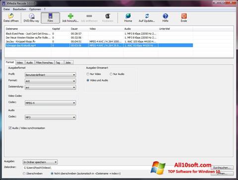 Screenshot XMedia Recode für Windows 10