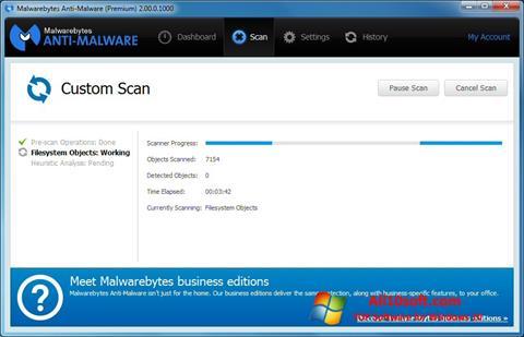 Screenshot Malwarebytes Anti-Malware Free für Windows 10