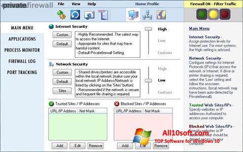 Screenshot Privatefirewall für Windows 10