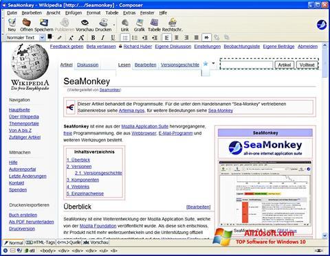 Screenshot SeaMonkey für Windows 10