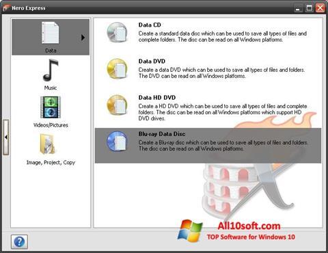 Screenshot Nero Micro für Windows 10