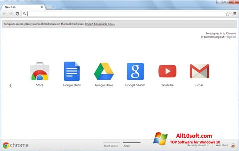 Screenshot Google Chrome für Windows 10