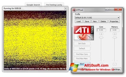 Screenshot ATITool für Windows 10