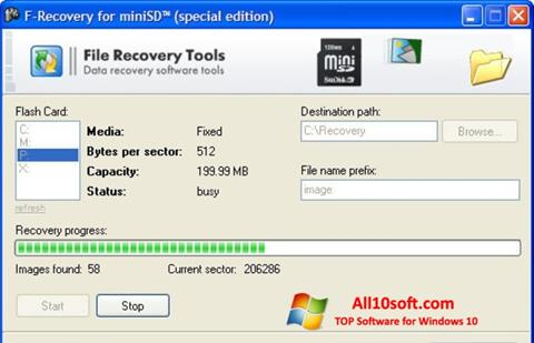 Screenshot F-Recovery SD für Windows 10