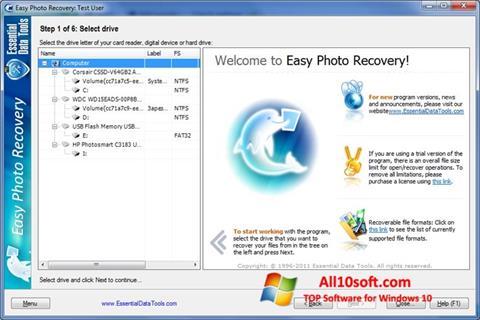 Screenshot Easy Photo Recovery für Windows 10