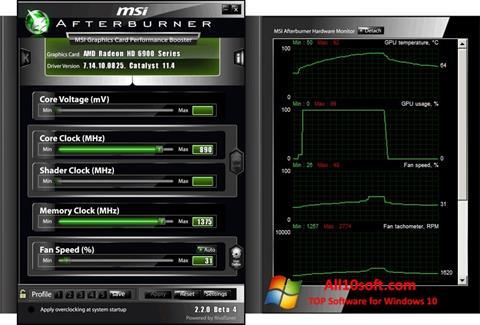 Screenshot MSI Afterburner für Windows 10