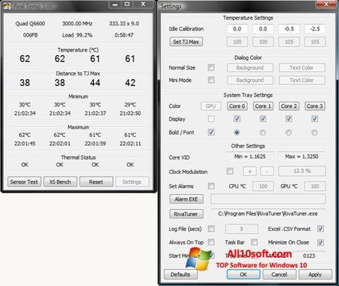 Screenshot Real Temp für Windows 10