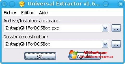 Screenshot Universal Extractor für Windows 10