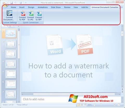 Screenshot Microsoft PowerPoint für Windows 10