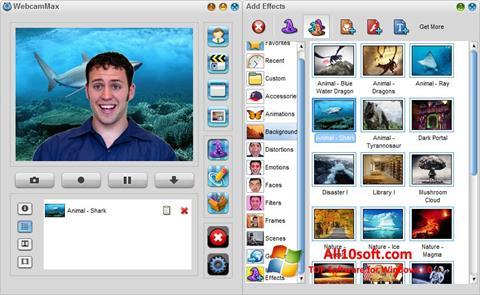 Screenshot WebcamMax für Windows 10