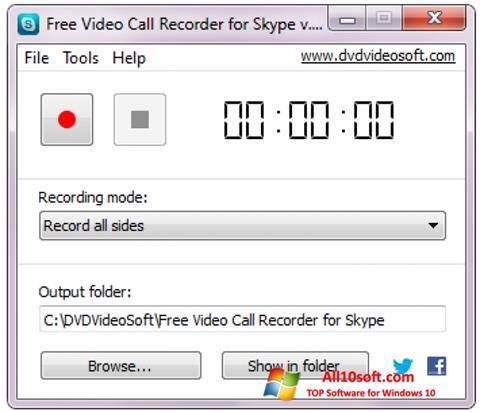 Screenshot Free Video Call Recorder for Skype für Windows 10