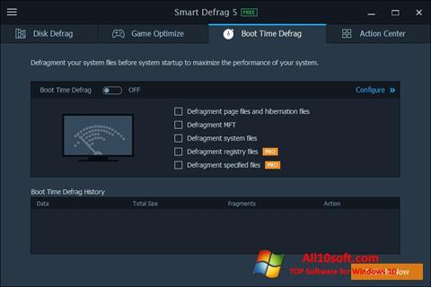 Screenshot Smart Defrag für Windows 10