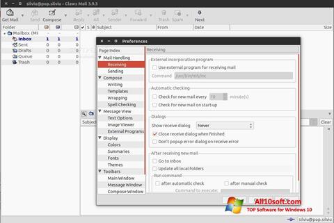 Screenshot Claws Mail für Windows 10
