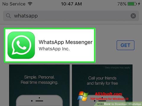 Screenshot WhatsApp für Windows 10