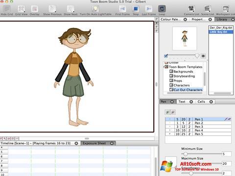 Screenshot Toon Boom Studio für Windows 10