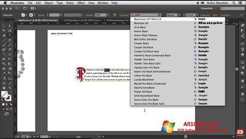 Screenshot Adobe Illustrator für Windows 10