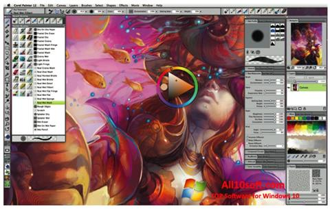 Screenshot Corel Painter für Windows 10