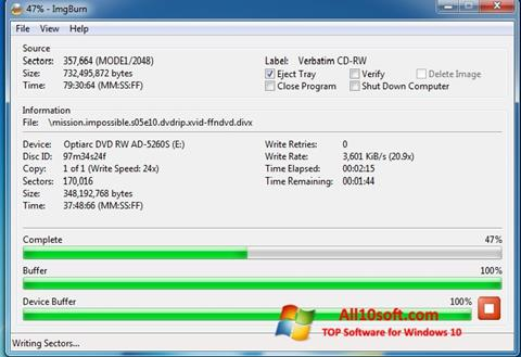 Screenshot ImgBurn für Windows 10