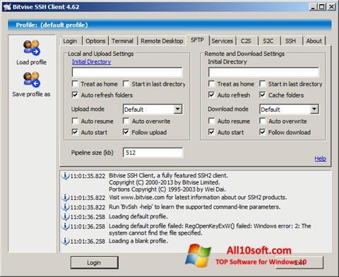 Screenshot Bitvise SSH Client für Windows 10
