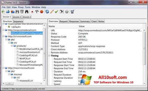 Screenshot Charles für Windows 10