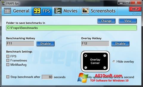Screenshot Fraps für Windows 10