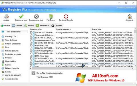 Screenshot Vit Registry Fix für Windows 10