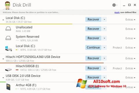 Screenshot Disk Drill für Windows 10