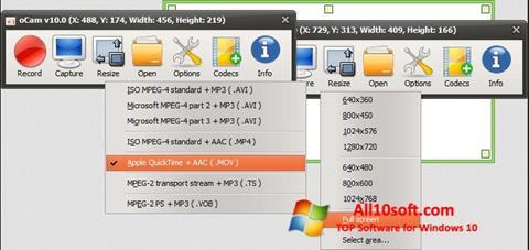 Screenshot oCam Screen Recorder für Windows 10