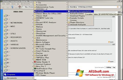 Screenshot AviSynth für Windows 10