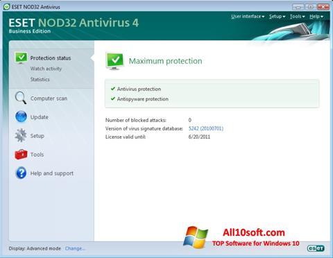 Screenshot ESET NOD32 für Windows 10