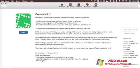 Screenshot Greenshot für Windows 10
