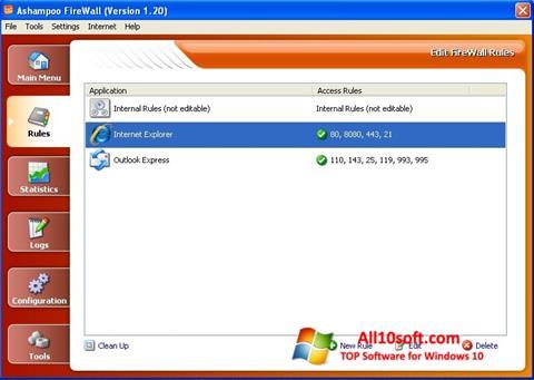 Screenshot Ashampoo Firewall für Windows 10