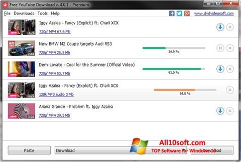 Screenshot Free YouTube Download für Windows 10
