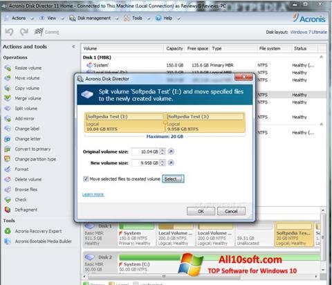 Screenshot Acronis Disk Director Suite für Windows 10