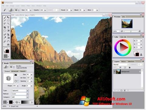 Screenshot Artweaver für Windows 10