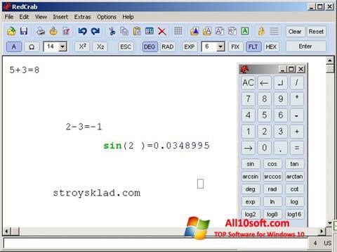 Screenshot RedCrab Calculator für Windows 10