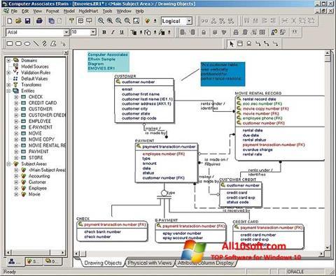 Screenshot ERWin für Windows 10