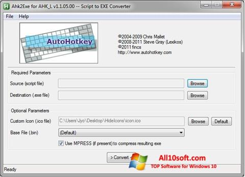 Screenshot AutoHotkey für Windows 10