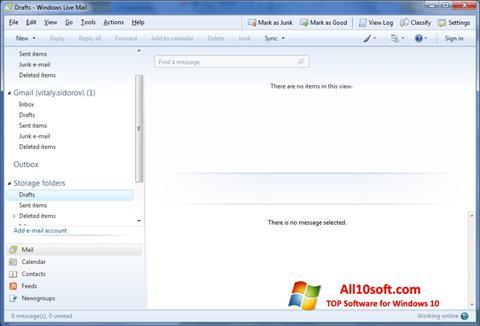 Screenshot Windows Live Mail für Windows 10